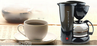New Black Household Fully-Automatic Drip Coffee Maker Machine Thermal Coffee Pot