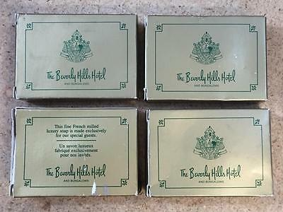 Vintage Lot of 4 The Beverly Hills Hotel and Bungalows Soap Bars