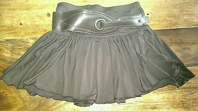 Girls Brown swing skirt with belt. From Next. Age 4 years. Viscose. Vgc