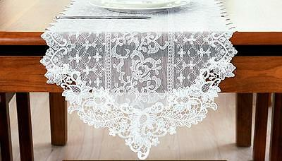 Ivory Lace Embroidery Table Runner Wedding Lace Table Runner Piano Runner Decor