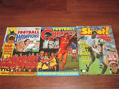 Three Football Annuals -  Shoot and Roy of the Rovers Football Champions
