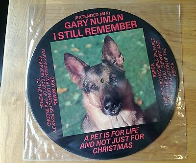 "Gary Numan I Still Remember Ltd Edit Picture Disc 12"" New Version/charity 1986"