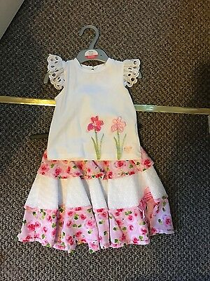 little darlings girls top and skirt set age 2 yrs excellent cond