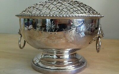 Antique silver plate Table Rose Bowl