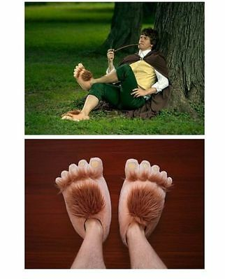 Cosplay Cool Men Women New Warm Plush Indoor Slipper Shoes Hobbit Big Feet
