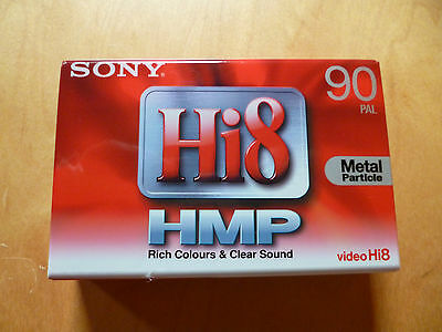 Sony Hi8 HMP 90 PAL Metal Particle Camcorder Tape P5-90HMP3