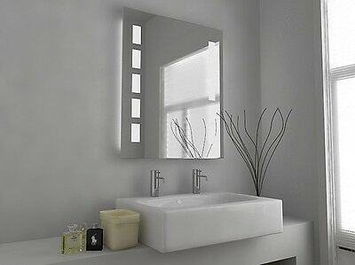 Illuminated Bathroom Mirror with Sensor, Shaver and Demister - Timeus - c1212