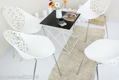 New Fashion Simple Hollowed-Out Backrest,White Leisure Dining Chair