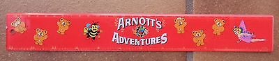 ARNOTT'S ADVENTURES TINY TEDDIES RULE RULER BISCUITS not TIN