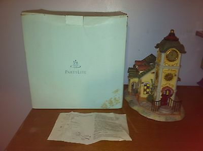 Vintage New CandleLite Clock Tower Votive With Box