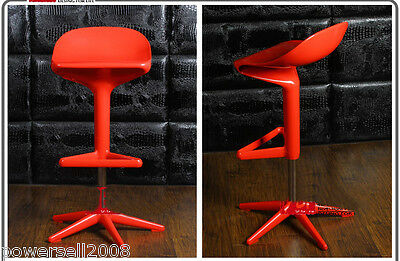 European Fashion Personality Red High Foot Lifting Revolving Chair