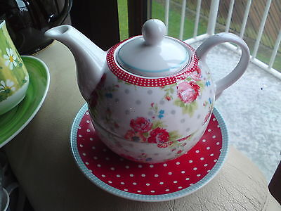 Lovely Tea For One Set, Floral, Free-Mailing.