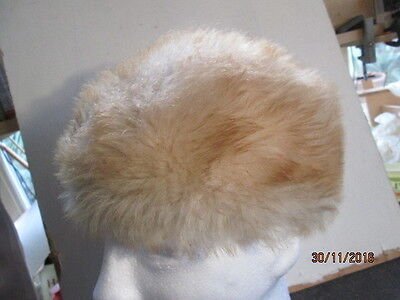 Vintage Ladies Hat - Possibly Sheepskin - Good Used Condition