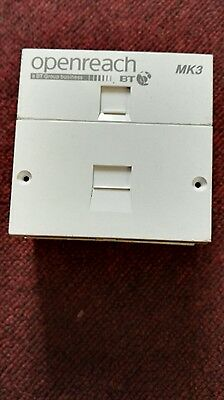 Sales!! Complete Block of BT Openreach MK3 with back box,screws,unsealed