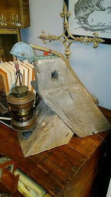 Vintage DHR Den Haan Rotterdam ANKERLICHT Nautical Lantern table lamp AWESOME!!!