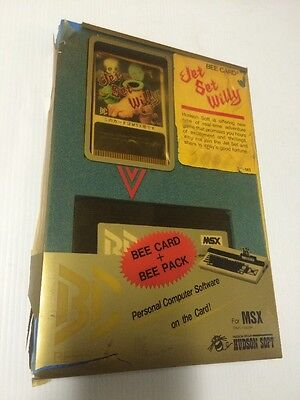 Jet Set Willy / MSX / Cartucho - Cartridge / Bee Pack Card / Hudson Soft