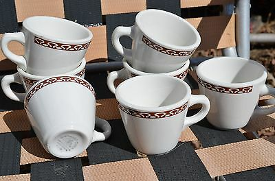 7 shenango new castle anchor hocking restaurant ware coffee cups-wine color top