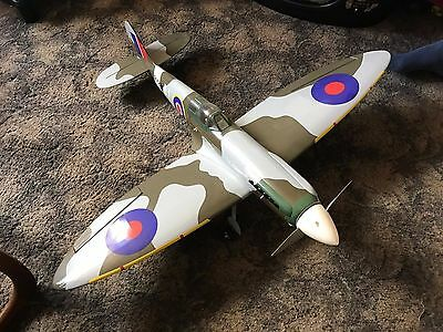 RC 1m SPITFIRE WITH SERVO'S, COMPLETE MOTOR AND BATTERY