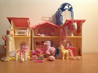 Vintage My Little Pony Lullable Nursery With 5 MLP Accessories Bundle