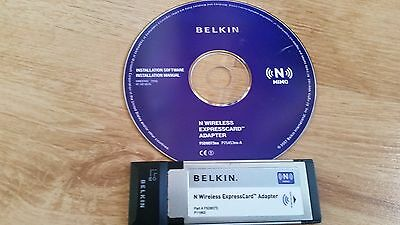 Belkin N Wireless PCI ExpressCard Notebook Laptop Network Card Adapter 300Mbps