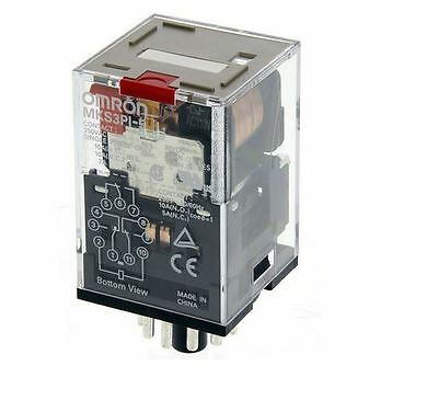 3PDT Non-Latching Relay Plug-in, 10 A, 110V ac Omron MKS3PI5AC110