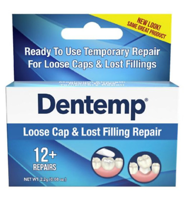Dentemp One Step Repair Kit, Repairs Loose Caps & Lost Fillings 2.2 g