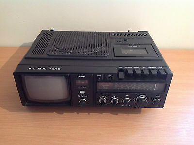 Vintage Alba TCR5 TV Radio & Cassette Player Portable Analogue