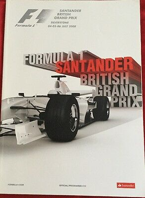 BRITISH GRAND PRIX SILVERSTONE 2008 FORMULA ONE F1 Official Race Programme