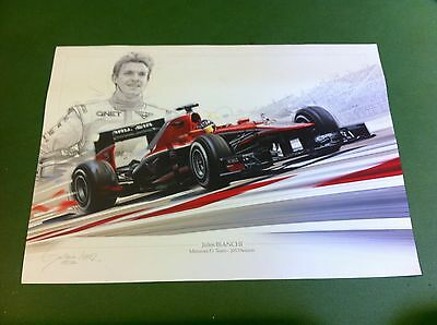 Jules BIANCHI F1 Limited Edition Marussia Manor Poster/print