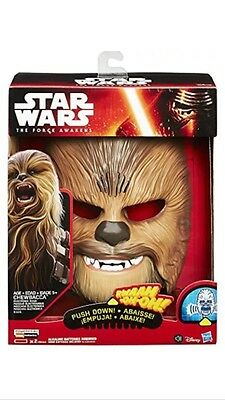 Star Wars The Force Awakens Chewbacca Electronic Mask Brand New In Box!!!
