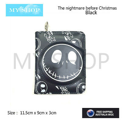 The Nightmare Before Christmas Jack Skellington - Black Bifold Wallet Coin Purse
