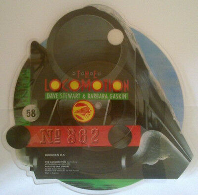 Dave Stewart & Barbara Gaskin ‎– The Locomotion SHAPED PICTURE DISC RECORD
