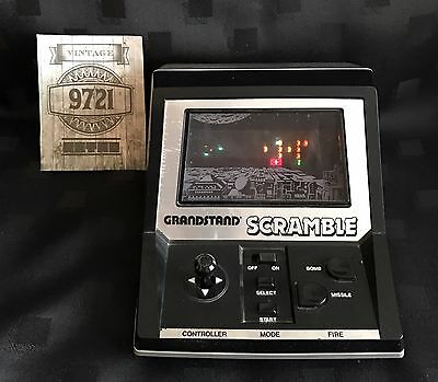 Grandstand Scramble Vintage Electronic Game Working With Box