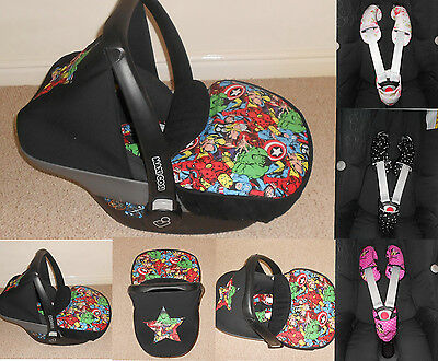 Maxi Cosi  Pebble car seat cover / apron, hood, belt set / items in your choice