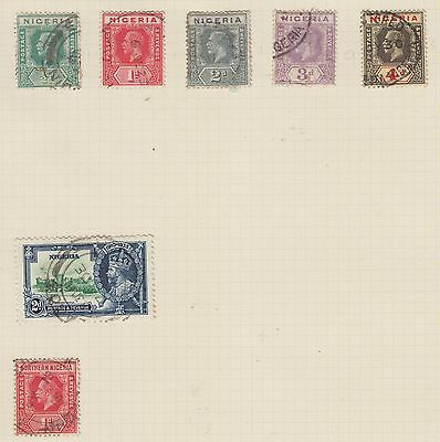 Ls90  Extremely Early Used  Stamps From Nigeria On Album Page