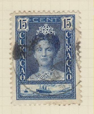 Ls77  Early Curacao Stamp  From An Old Album