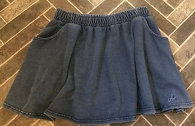 Girls Blue Denim Short Skirt Size Large (10-12) - ANGEL At M&S In Good Used Cond