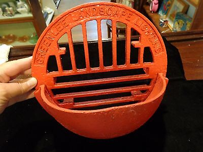 Antique vintage cast iron storm grate Greenlee Landscape Lighting advertisement