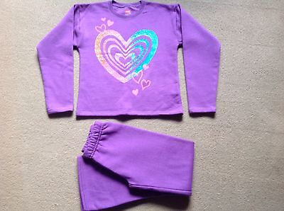 GIRLS HANES Purple Heart Leisure Track Suit Age 7/8
