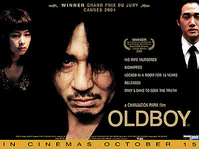 Oldboy official cinema UK quad movie poster. Original, Park Chan-wook.