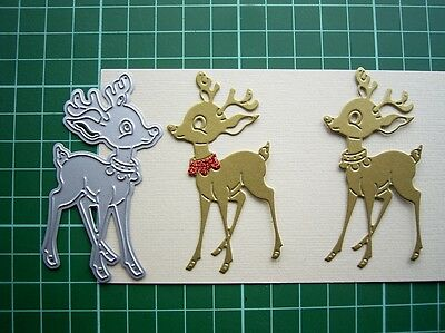 htf CUTE REINDEER DIE D1409 Tattered Lace New Release exclusive to Hobbycraft UK