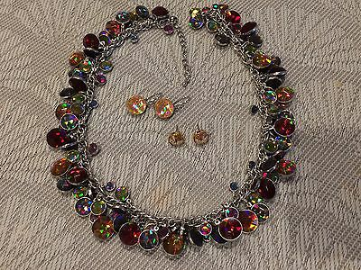 PILGRIM Necklace With 2 Pairs of Earrings