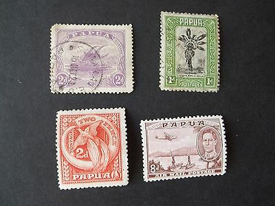 PAPUA and NEW GUINEA 1932/3 PICTORIALS, Two mint