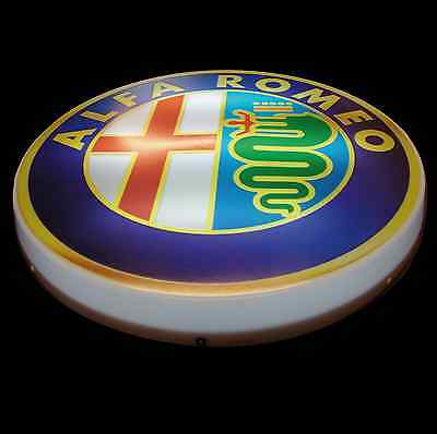 Alfa Romeo Large Led 2Ft Illuminated Garage Wall Light Sign Tool Mechanic 155