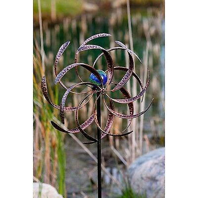 Garden Wind Spinner Kinetic Yard Decor Metal Stake Outdoor Art Sculpture Windmil