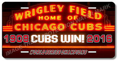 Wrigley Field Chicago Illinois CUBS World Series Baseball Team License Plate