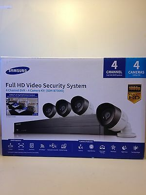 Samsung SDH-B73040 Full HD 1080P 4 Channel 4 Camera CCTV Video Security System