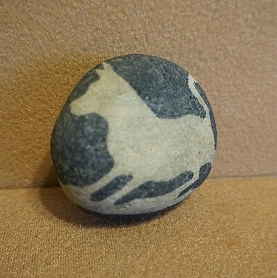 "SUPER-RARE ""White Wolf"" STONE ROCK TOTEM NATURAL GEOLOGY FORMATION Shepherd-DOG!"