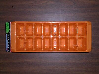 Chef Craft Stackable Ice Cube Trays - Set of 2 - Orange - #21846 - NEW.