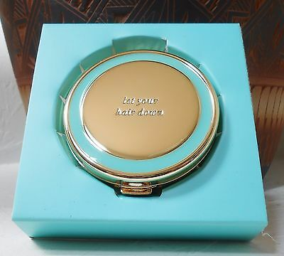 NWT Kate Spade Holly Drive Let Your Hair Down Compact Mirror Turquoise Gift Box